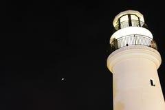 Leuchtturm nachts Lizenzfreie Stockfotos