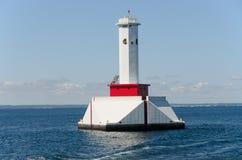 Leuchtturm nahe Mackinac Insel Michigan Lizenzfreie Stockfotografie