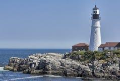 Leuchtturm nahe Ogunquit auf der Küste von Maine Lizenzfreies Stockbild