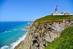 Leuchtturm, Nazare, Portugal Stockfotografie
