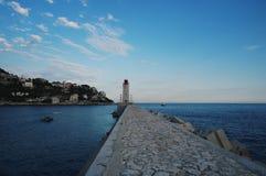 Leuchtturm Nett, Frankreich lizenzfreie stockbilder