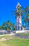 Leuchtturm an niederländischem Fort Galles, Sri Lanka Lizenzfreie Stockfotos