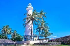 Leuchtturm an niederländischem Fort Galles, Sri Lanka Stockfoto