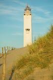 Leuchtturm Noordwijk, die Niederlande Stockbild