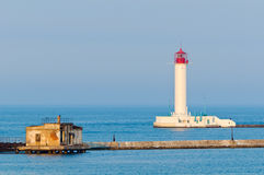 Leuchtturm in Odessa Ukraine Lizenzfreie Stockfotografie