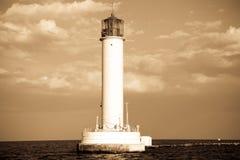 Leuchtturm in Odessa Ukraine, Foto im Weinleseschweinestall Lizenzfreies Stockfoto