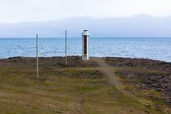 Leuchtturm in Ostisland Stockbild