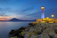 Leuchtturm in Patras lizenzfreie stockfotografie