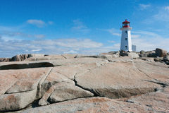 Leuchtturm in Peggy Bucht Lizenzfreie Stockfotos