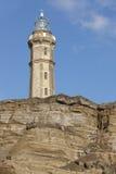 Leuchtturm in Ponta DOS Capelinhos Faial Insel Azoren-archipe stockfotos
