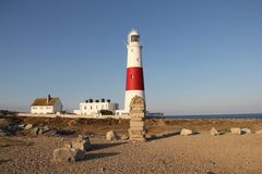 Leuchtturm Portland-Bill, Dorset, Großbritannien lizenzfreies stockfoto