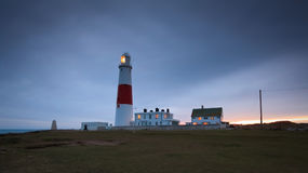 Leuchtturm Portlands Bill, Dorset. Stockfoto