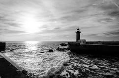 Leuchtturm in Porto Stockfotos