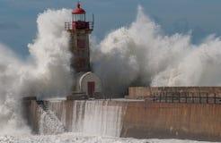 Leuchtturm in Porto Lizenzfreies Stockfoto