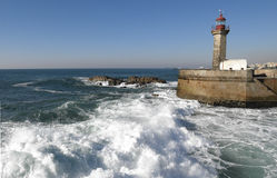 Leuchtturm in Porto, Portugal Stockbild