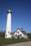 Leuchtturm - Presque Insel, Michigan Lizenzfreies Stockbild