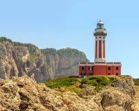 Leuchtturm Punta Carena lizenzfreie stockfotos