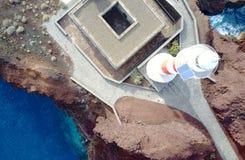 Leuchtturm Punta Teno von oben stockbild