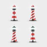 Leuchtturm-Sammlung lizenzfreie abbildung