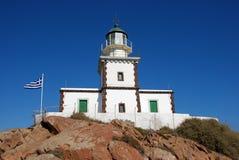 Leuchtturm in Santorini Lizenzfreies Stockfoto
