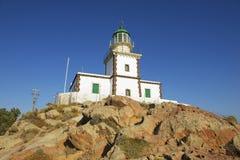 Leuchtturm, Santorini, Griechenland Stockfotografie