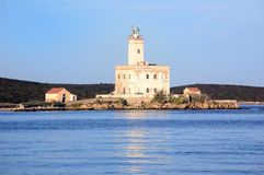 Leuchtturm in Sardinien stockbild