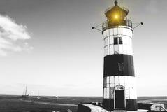 Leuchtturm SchleimÃ-¼ nde auf der Ostsee Stockbild