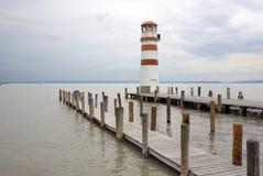 Leuchtturm in See Neusiedl Lizenzfreies Stockbild