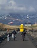 Leuchtturm Seltjarnarnes-Hafen Island Stockbild
