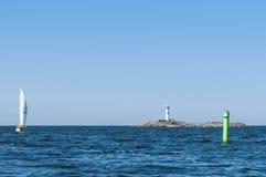 Leuchtturm Simpnasklubb Schweden Lizenzfreie Stockbilder