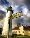 Leuchtturm Smygehuk Skane Schweden Lizenzfreie Stockbilder