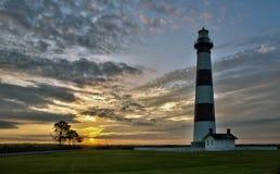 Leuchtturm-Sonnenaufgang Stockfoto