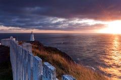 Leuchtturm-Sonnenaufgang stockbilder