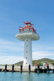 Leuchtturm in Srichang-Insel Stockbild