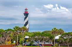 Leuchtturm in St Augustine lizenzfreie stockfotografie