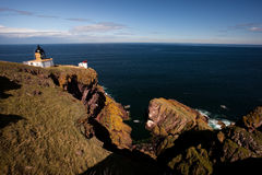Leuchtturm-Str. Abbs, Schottland, Großbritannien Stockbild