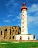 Leuchtturm Str.-Mathieu, Bretagne Stockfotos