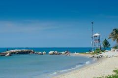 Leuchtturm-Strand Stockbild