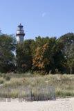 Leuchtturm-Strand, Evanston Lizenzfreie Stockfotos