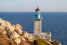 Leuchtturm Tenaro, Griechenland lizenzfreie stockbilder