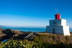 Leuchtturm in Ucluelet BC Stockfotografie