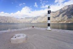 Leuchtturm auf Kotor Bucht Lizenzfreies Stockbild