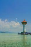 Leuchtturm und Hafen Stockfotos
