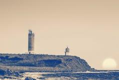 Leuchtturm und Kirche Lizenzfreie Stockfotos