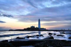 Leuchtturm und Meer Str.-Marys Stockbilder