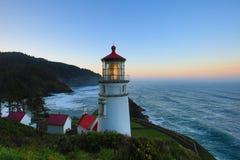 Leuchtturm und Sonnenaufgang Lizenzfreies Stockbild