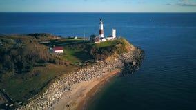 Leuchtturm und Strand Montauk stock footage
