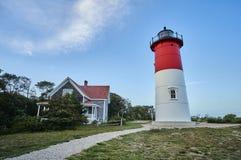 Leuchtturm und Wolken Lizenzfreies Stockfoto