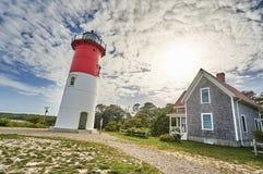 Leuchtturm und Wolken Lizenzfreies Stockbild