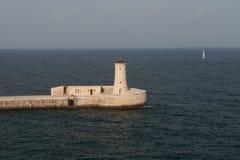 Leuchtturm Valletta-, Malta Lizenzfreie Stockfotografie